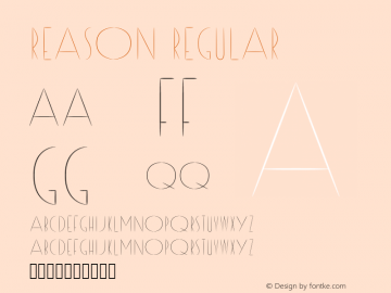 Reason Regular Version 1 Font Sample