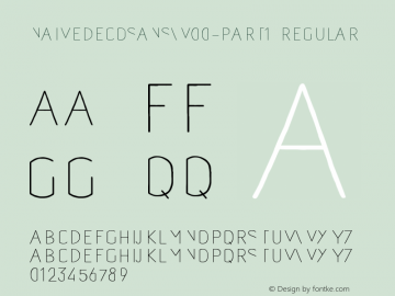 NaiveDecoSansW00-Part1 Regular Version 1.00 Font Sample