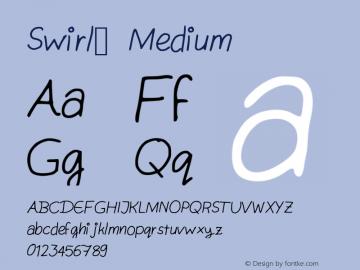 Swirl_ Medium Version 001.000 Font Sample
