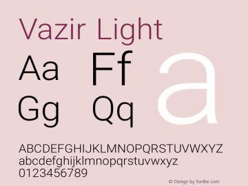 Vazir Light Version 9-alpha Font Sample