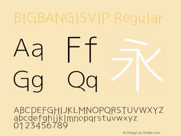 BIGBANGISVIP Regular Version 1.20 October 6, 2015 Font Sample