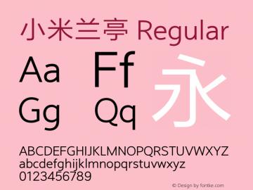小米兰亭 Regular Version 2.5;GB Outside YS Regular图片样张