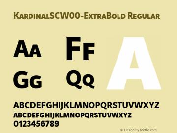 KardinalSCW00-ExtraBold Regular Version 1.00图片样张