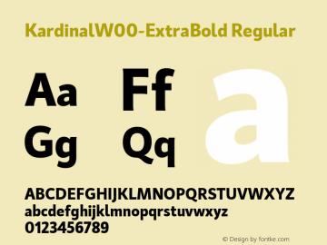 KardinalW00-ExtraBold Regular Version 1.00图片样张