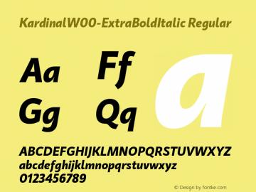 KardinalW00-ExtraBoldItalic Regular Version 1.00图片样张