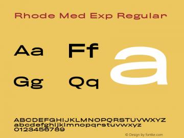 Rhode Med Exp Regular 001.000图片样张