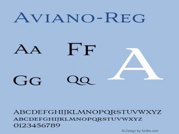 Aviano-Reg ☞ Version 4.000;com.myfonts.easy.insigne.aviano.regular.wfkit2.version.4nXC图片样张