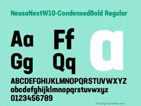 NeusaNextW10-CondensedBold Regular Version 1.20图片样张