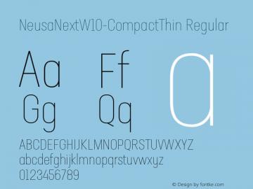 NeusaNextW10-CompactThin Regular Version 1.20图片样张