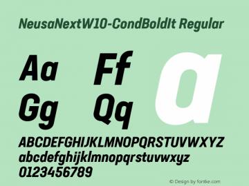 NeusaNextW10-CondBoldIt Regular Version 1.20图片样张