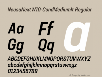 NeusaNextW10-CondMediumIt Regular Version 1.20图片样张