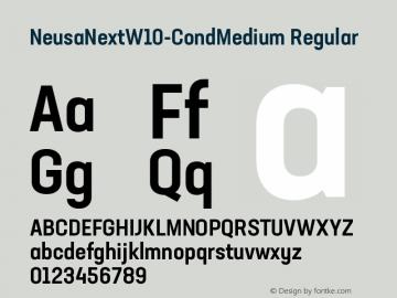 NeusaNextW10-CondMedium Regular Version 1.20图片样张