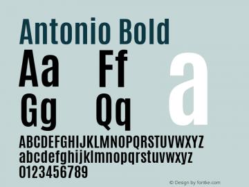 Antonio Bold Version 1 ; ttfautohint (v1.4.1) Font Sample