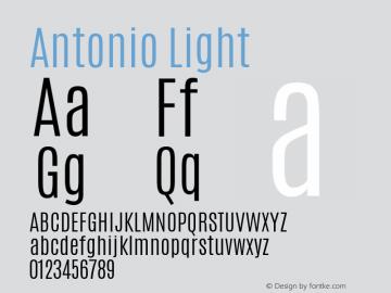 Antonio Light Version 1 ; ttfautohint (v1.4.1) Font Sample