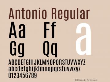 Antonio Regular Version 1 ; ttfautohint (v1.4.1) Font Sample
