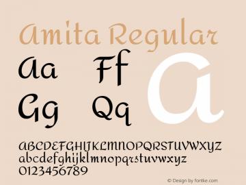 Amita Regular Version 1.003; ttfautohint (v1.4.1)图片样张