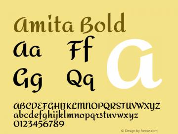 Amita Bold Version 1.003; ttfautohint (v1.4.1)图片样张