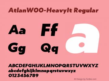 AtlanW00-HeavyIt Regular Version 1.00 Font Sample