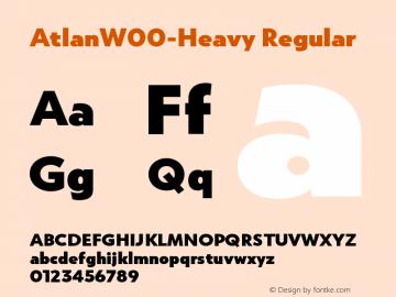 AtlanW00-Heavy Regular Version 1.00 Font Sample