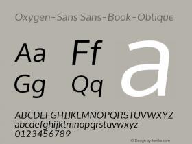 Oxygen-Sans Sans-Book-Oblique 0.4 Font Sample