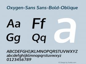 Oxygen-Sans Sans-Bold-Oblique 0.4 Font Sample