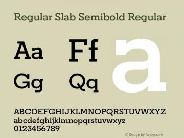 Regular Slab Semibold Regular Version 1.0; ttfautohint (v1.4) Font Sample