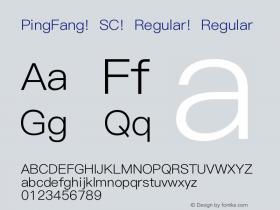 PingFang SC Regular Regular 10.11d9e1 Font Sample