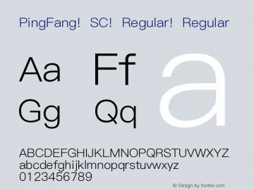 PingFang SC Regular Regular 10.11d9e1 Font Sample