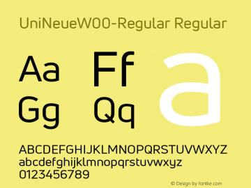 UniNeueW00-Regular Regular Version 1.00 Font Sample