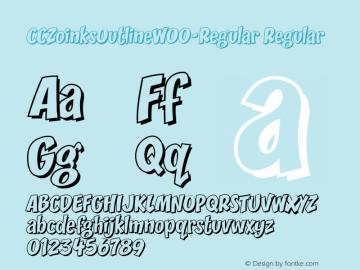 CCZoinksOutlineW00-Regular Regular Version 1.20 Font Sample