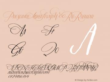 ProsciuttoMixedSwashW00-Rg Regular Version 1.00 Font Sample