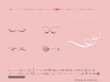 ProsciuttoExtrasW95-Regular Regular Version 1.00 Font Sample