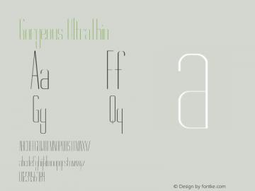Gorgeous UltraThin Version 1.000 Font Sample