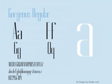 Gorgeous Regular Version 1.000 Font Sample