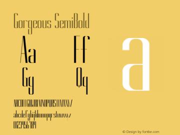 Gorgeous SemiBold Version 1.000 Font Sample