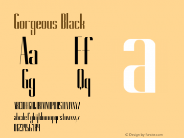 Gorgeous Black Version 1.000 Font Sample