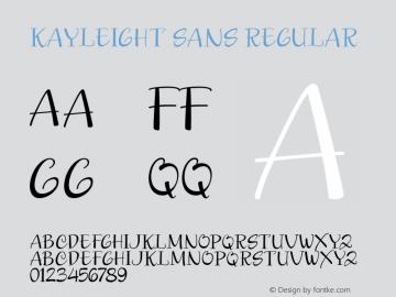 Kayleight Sans Regular Version 1.000图片样张