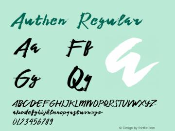 Authen  Regular Unknown图片样张