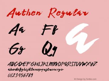 Authen  Regular 1.000图片样张