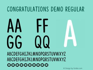 Congratulations DEMO Regular Version 001.000图片样张