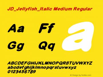 JD_Jellyfish_Italic Medium Regular Version 1.000图片样张