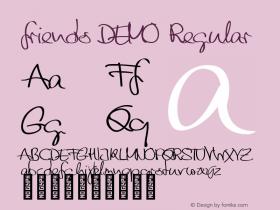 friends DEMO Regular Version 1.000 Font Sample