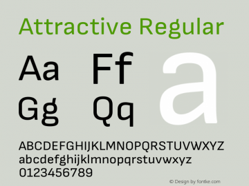 Attractive Regular Version 1.000 Font Sample