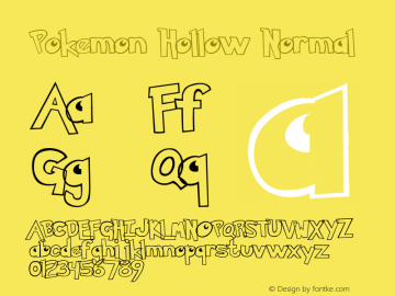 Pokemon Hollow Normal Version 1.0 Font Sample