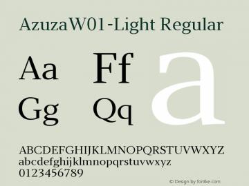 AzuzaW01-Light Regular Version 2.00图片样张