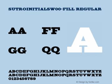 SutroInitialsW00-Fill Regular Version 4.00图片样张