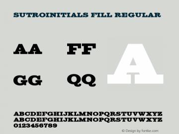 SutroInitials Fill Regular Version 4.00图片样张