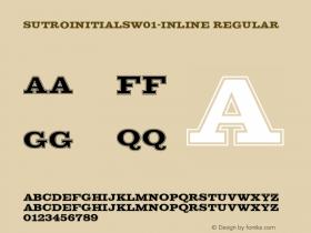 SutroInitialsW01-Inline Regular Version 5.00图片样张