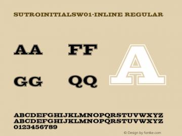SutroInitialsW01-Inline Regular Version 5.00 Font Sample