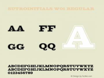SutroInitials W01 Regular Version 5.00 Font Sample